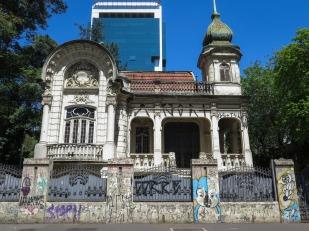 Palacete Franco de Mello, 1905. Una de las pocas casas que quedan en la Avenida Paulista.