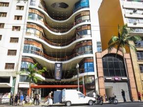 Galeria do Rock. Proyectado por el arquitecto Alfredo Mathias. Inaugurada en 1963.