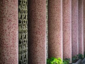 Detalle del Edificio Cinderela (Artacho Jurado). Inaugurado en 1956.