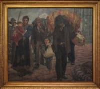 Antonio Rocco - Os emigrantes (1918) Pinacoteca do Estado de São Paulo. Así llegaban los antepasados de la mayoría de los paulistanos.