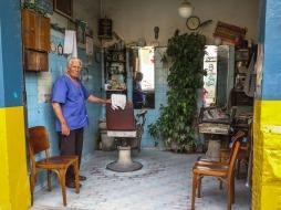 El señor Joaquim regenta esta barbería del barrio de Pinheiros desde hace más de cincuenta años.