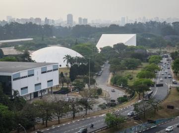 De izquierda a derecha la Bienal, la Oca y el Auditorio de Ibirapuera.